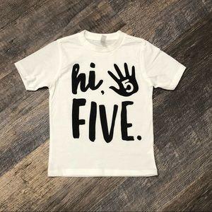 Next Level Apparel Shirts & Tops - Kids 5th birthday shirt.